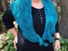 Joanne's pebble beach shawl - front