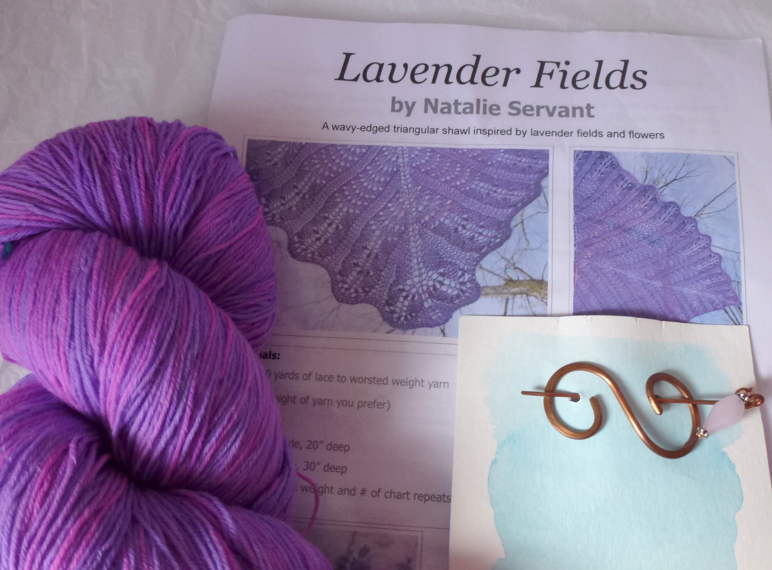 Lavender Fields Shawl Kit – Large
