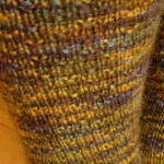 Barb's socks close-up