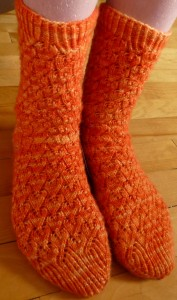 Margeret's orange socks
