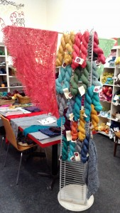 new lace yarns on stand