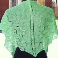 2 shawls based on one pattern