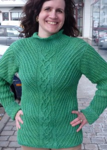 Louise's overdyed sweater