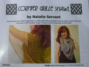 shawl pattern closeup